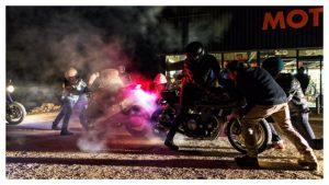 Burn cul-à-cul lors d'une sortie chez pizzolitto avec l'équipe du Benzina